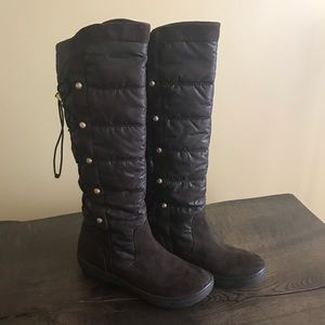 Guess Brown Suede/Nylon Knee High Boots